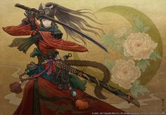 Samurai Illustration from Final Fantasy XIV: Stormblood