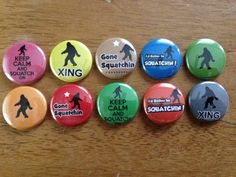 Bigfoot Buttons Set of 10 Pinback Bigfoot by MyButtonMonster, $5.00