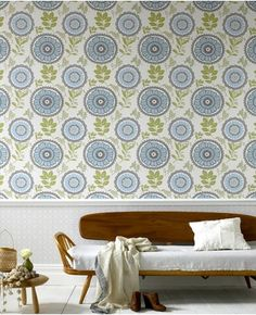 Lacework wallpaper by Amy Butler/Graham & Brown: moss color way