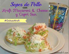 Sopes de Pollo con Kraft Macaroni and Cheese y Capri Sun: La combinación ideal para El Campeonato