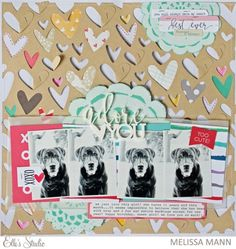 Adore You scrapbooking layout by Melissa Mann
