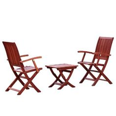Oceanside 3pc Hard Wood Outdoor Dining Set . $154.99. Includes 2 chairs and a table. Table: 17 L x 16.75 W x 19.25 H - Chair: 21.5 L x 24 W x 37.75 H; 55lbs total. Ideal for entertaining outsideSome Assembly Required. Natural colors to match any existing decor. Made of Eucalyptus wood. Enjoy your deck or outdoor area with out Oceanside 3pc Hard Wood Outdoor Dining Set. Keep drinks and snacks at your side with as you relax in into comfortable chairs. Some assembly re...