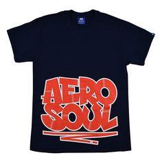 Aerosoul X Sya Graffi Tee - Navy