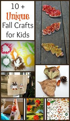 10+ Unique Fall Crafts for Kids: Art projects using fall leaves, process art, sensory art and more!