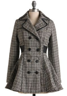 Love love love it!!  Wish it was winter in Florida!  Listening Booth Coat by ModCloth at $84.99 (what a bargain!)