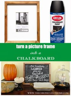 The Chronicles of Home: How to Turn a Picture Frame Into a Chalkboard