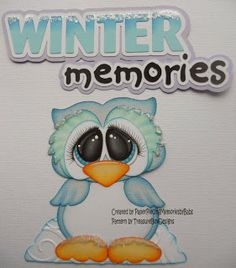 Winter Memories Paper Piecing Memories By Babs Owl Patterns, Paper Piecing Patterns, Scrapbook Paper Crafts, Scrapbook Pages, Diy Paper, Paper Art, Free Adult Coloring Pages, Christmas Paper Crafts, Felt Birds