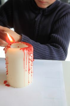 Déco Halloween : bougies ensanglantées | Madame Dentelle