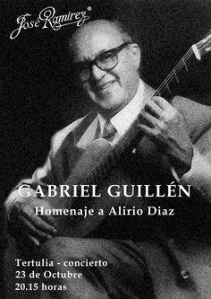 Conciertos en la guitarrería: 23octubre Gabriel Guillen @sextoorden @ESDGuitarra @RevistaRITMO @Scherzo_es @aeercsmm