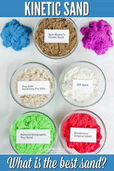 Kinetic Sand - What is the Best Kids Play Sand? - 5 Minutes for Mom Kids Play Sand, Safety Rules For Kids, Diy Kinetic Sand, Positive Parenting Solutions, Diy Crafts For Kids, Craft Ideas, Summer Crafts, Fall Crafts, Child Room
