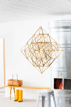Trending: Himmeli is the original Finnish Christmas ornament. It's a straw mobile that can be found in many Nordic countries, and in the last few months became a very trendy decor for various design elements such as light fixtures, mobiles etc.