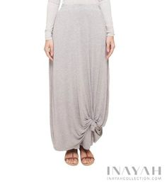 Grey Knot Skirt | INAYAH www.inayahcollection.com #inayah#modestfashion#maxiskirt
