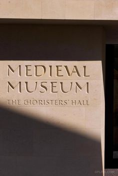 Lettering design and carving by Robbie Smith and Stephen Burke. Medieval Museum, Waterford