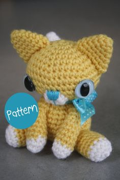 PATTERN  little kitty crocheted amigurumi toy by lilleliis on Etsy, $5.50