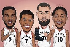 Injuries couldn't keep them from the Eastern Conference Finals-DeMarre, Kyle, Jonas, DeMar #Raptors #Fighters