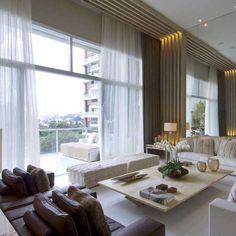 8e1d5aa9cbc Tons neutros e texturas transformam apartamento em palacete