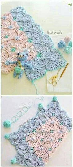 코바늘 블랭킷 도안 / 예쁜 블랭킷 뜨기 : 네이버 블로그 Crochet Cushions, Crochet Hats, Blanket, Frames, Tejidos, Bed Covers, Crocheted Blankets, Patterns, Knitting Hats