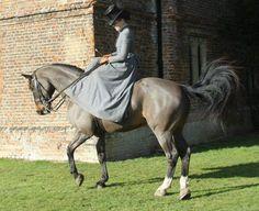 I cannot imagine jumping fences side saddle.