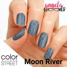 Get ready to moonwalk with this steely gray glitter look. Glitter finish. Each set includes 16 double-ended nail polish strips. Color Street makes it so easy to get a perfect manicure or pedicure. To purchase, visit www.ColorStreetwithAngela.com or click through the picture to join my Facebook page. #colorstreet #manicure #glitter #glitternails