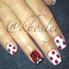 Lady Bug nail art done using CND Shellac done by Kathryn Bosley Nail Art Pictures, Art Pics, Animal Nail Designs, Nail Art Designs, Shellac Nail Art, Lady Bugs, Spring Nails, Girly, Party Ideas