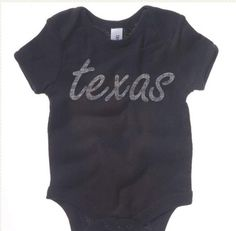Texas Home State Washed T Onesie. http://washedtee.com/shop/babys/baby-rib-short-sleeve-one-piece/