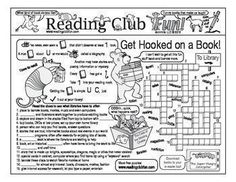 GET HOOKED ON A BOOK - Enjoy a reading-themed Two-Page Activity Set and Reading Log & Certificate Set. Includes the following products:             • Get Hooked on a Book Two-Page Activity Set                  • Get Hooked on a Book Reading Log and Certificate Set