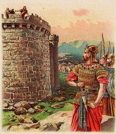 King David, bible card