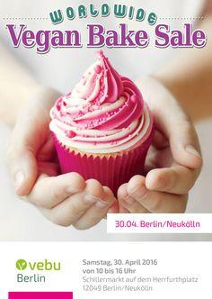 Flyer Vegan Bake Sale für den VEBU Berlin www.vebu.de