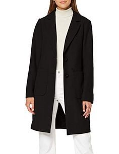 Sisley Coat Giubbotto Nero 100 Nero Donna Taglia Produttore: 42 48