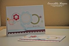 The joys of Stampin' Up! Simply Sent Kits. They are great for beginner stampers and those who like to handmake quick cards. www.carmenacita.blogspot.com