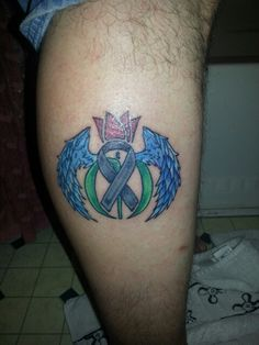 My husband Parkinson's disease tattoo for his grandmother