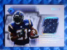 http://www.ebay.com/itm/2004-Ultimate-Collection-LADAINIAN-TOMLINSON-Game-Worn-Jersey-Card-175-UGJ-LT-/281463946407?ssPageName=STRK:MESE:IT 2004 #Ultimate Collection LADAINIAN TOMLINSON Game Worn Jersey Card #/175 #UGJ-LT #SanDiegoChargers @ebay #upperdeck