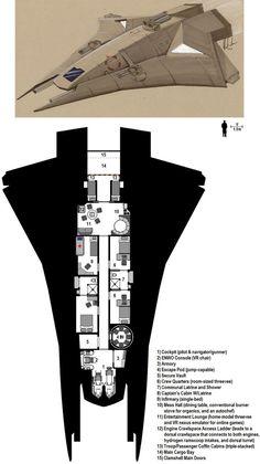 Dark Nova: Peregrine Deckplans by Breandan-OCiarrai on deviantART
