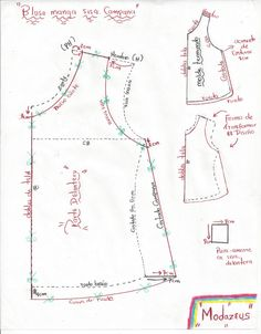 Pattern Cutting, Pattern Making, Dress Sewing Patterns, Clothing Patterns, Sewing Clothes, Diy Clothes, Sewing Hacks, Sewing Tutorials, Sleeves Designs For Dresses