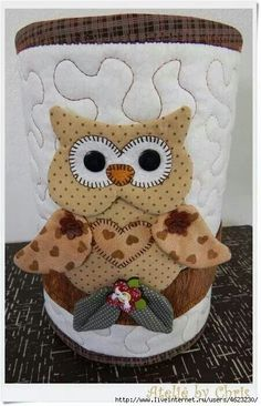 love this Owl Owl Sewing, Sewing Crafts, Sewing Projects, Projects To Try, Owl Crafts, Diy And Crafts, Owl Fabric, Felt Owls, Owl Bird