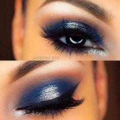 Prata e azul