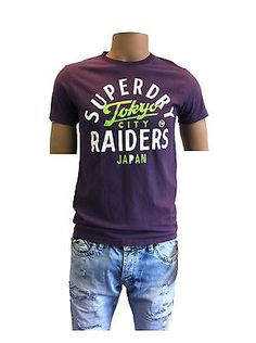 Superdry T-Shirt  Raiders Tee Soot  010 S M L XL