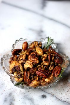 Say HELLO to your new favorite snack! Sweet & Spicy Mixed Nuts - so easy to make and everyone looooves them!