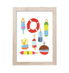 Buoys Art Print   Printed on 100% recycled paper.