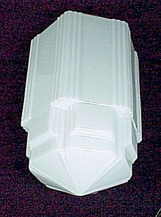 Art Deco Lighting Glass Light Shade Lamp SkyScraper 6 X 16.5 Pendant