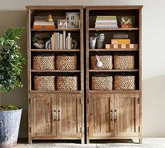 Parker Wide Bookcase #potterybarn