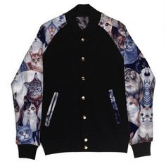 Cats Varsity Jacket: http://shop.nylonmag.com/collections/whats-new/products/cats-varsity-jacket. #NYLONshop