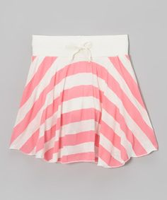 Take a look at this Hot Pink Stripe Anchors Away Skirt - Toddler & Girls by Ragdoll & Rockets on #zulily today!