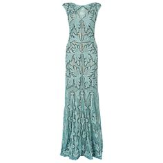 Phase Eight Collection 8 Paige Tapework Dress Sky £325.00 AT vintagedancer.com