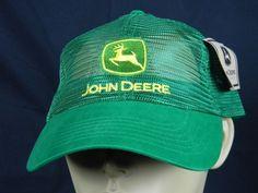 John Deere Green Yellow Truckers Hat Mesh Upper Summer Weight Adjustable NWT  | eBay