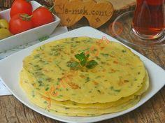 Krep yapımına yakın, içine otlar koyulan, oldukça besleyici ve lezzetli bir kahvaltılık tarif...