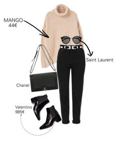 """""""#ootd #outfit"""" by carmendilauro-1 on Polyvore featuring moda, MANGO, Topshop, Chanel, LULUS e Yves Saint Laurent"""