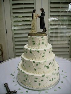 If my future husband's taste in literature is anything like mine...this'll be our cake.