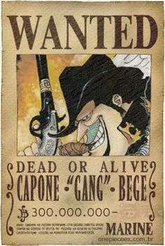"Capone""Gang""Bege Wanted poster - One piece"