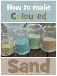 How to make Coloured Sand   Wildlife Fun 4 Kids